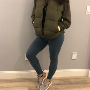 Abercrombie & Fitch Twofer Bomber Jacket Green